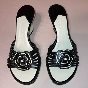 Authentic Rare Chanel Wedge Sandals Size 37